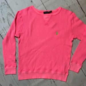 POLO Ralph Lauren L thermal electric pink top NEW